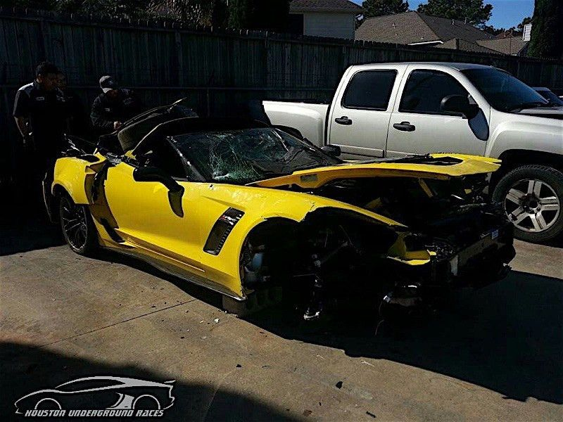 Man's Z06 C7.R Edition Is Totaled Before He Gets It