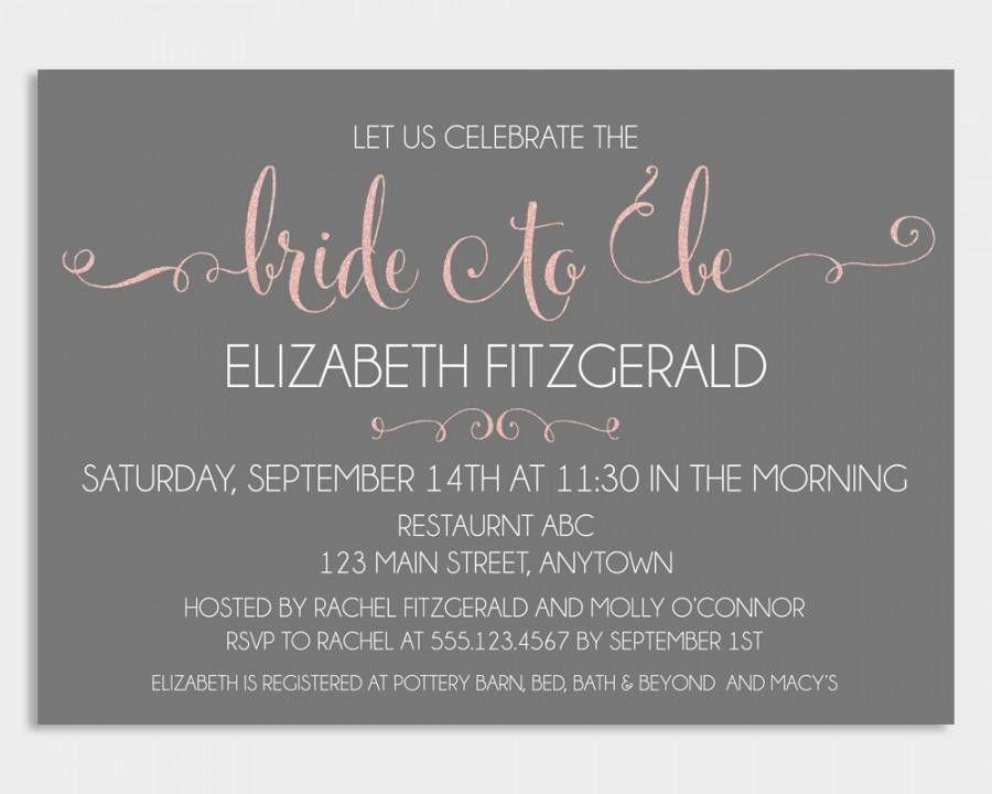 Bridal Shower Invitation Template, Bridal Shower Invitation ...