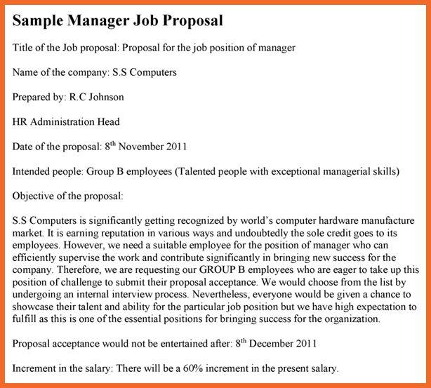employment proposal | sop example