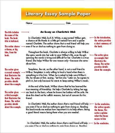 argumentative essay about literature. literary essays sample ...