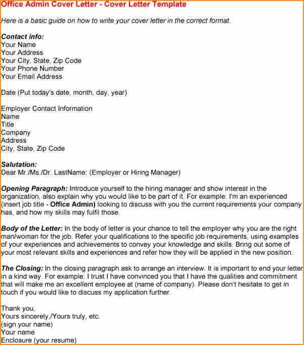 14+ cover letter sample for office administrator - Basic Job ...