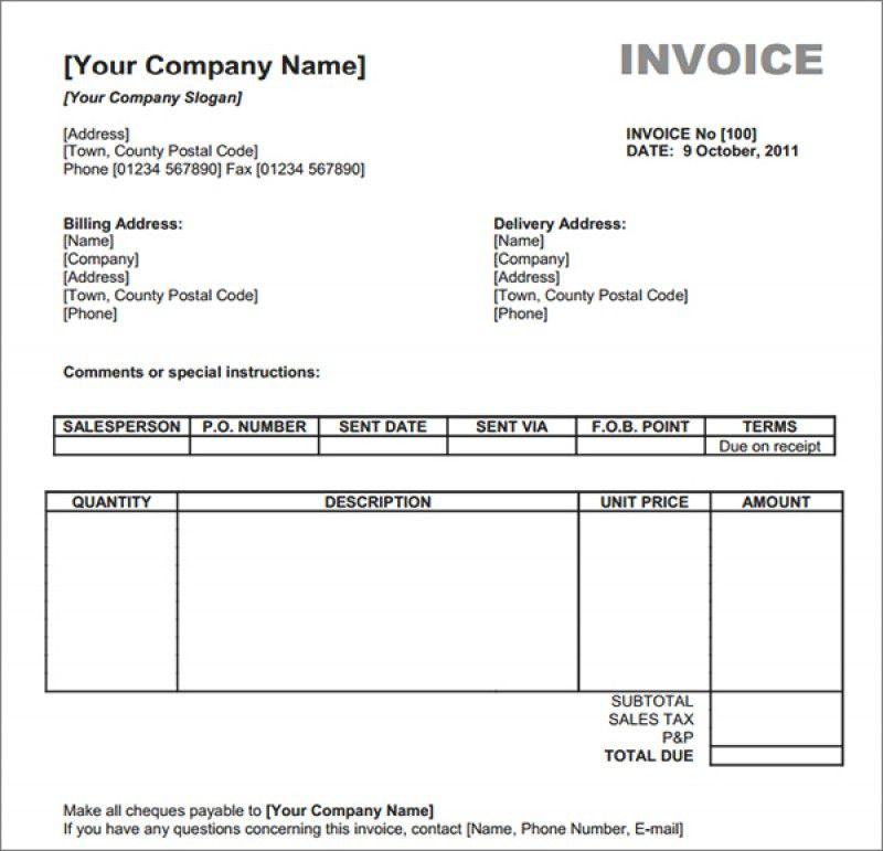 Sample Catering Invoice. 5 Best Catering Invoice Templates For ...