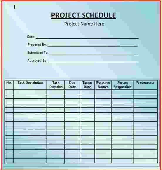 3+ microsoft schedule template | Ganttchart Template