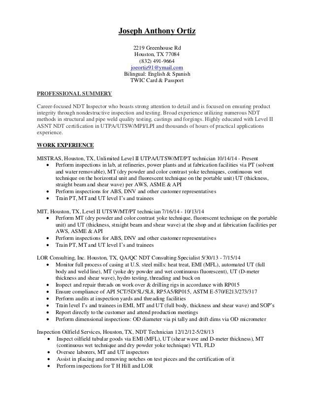 oilfield resume field consultant resume example 5 useful