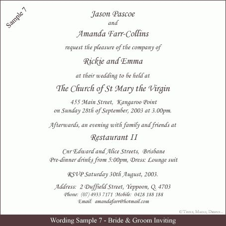 COUNTRY Invitation wording samples | south indian wedding ...