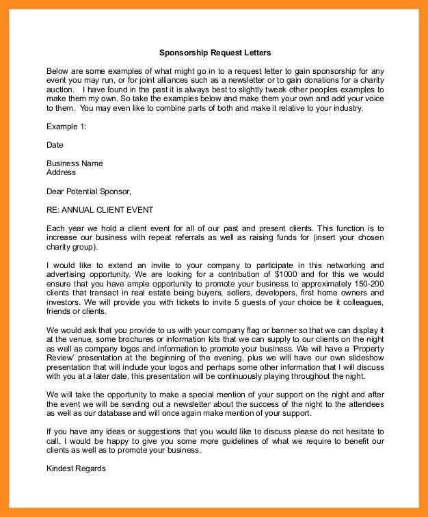 Sponsorship Letters. Sports Sponsorship Thank You Letter 69+ Thank ...