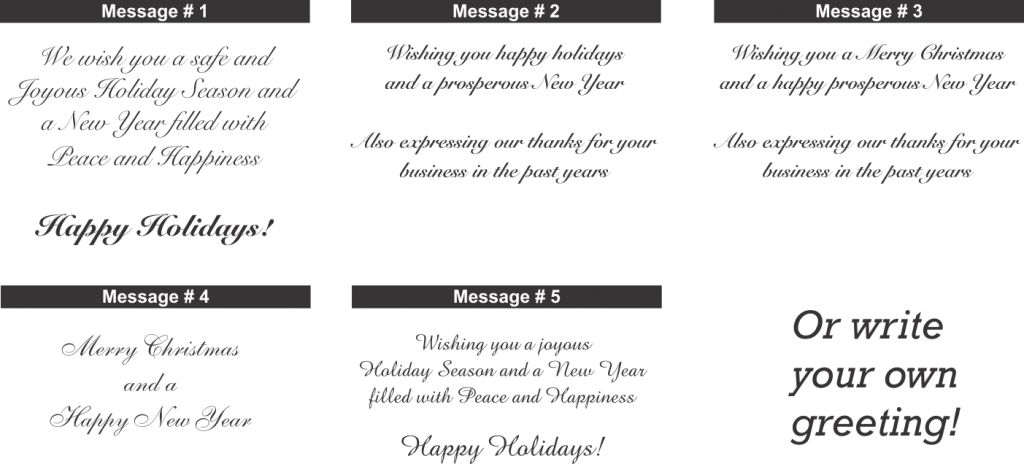 Sample Christmas Card Messages – Happy Holidays!