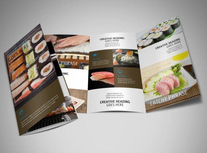 Sushi Restaurant Brochure Template | MyCreativeShop