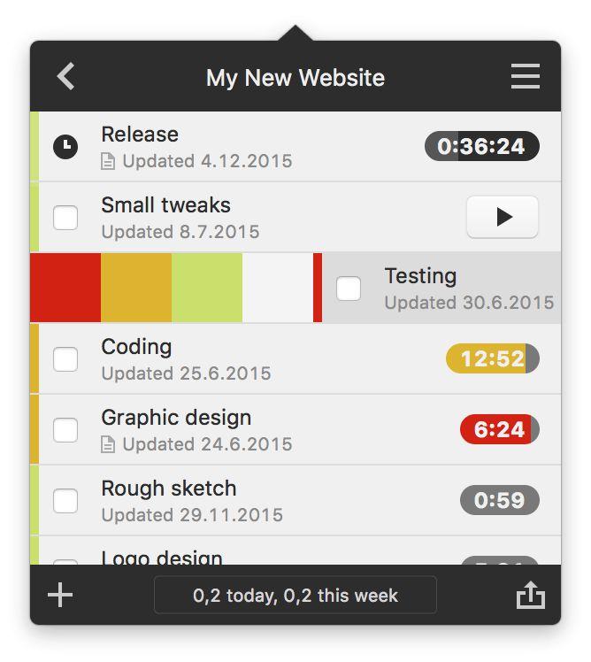 hr – Task timer for your Mac's menu bar