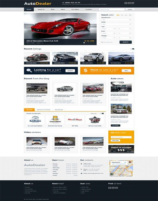 60+ Fantastic Automobile & Car Dealer Website Templates
