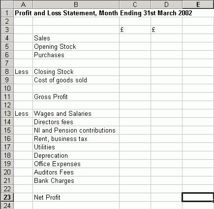 8+ blank profit and loss statement | Job Resumes Word