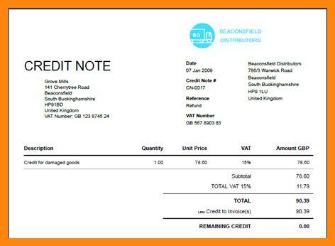 7+ sample of credit note | nurse resumed