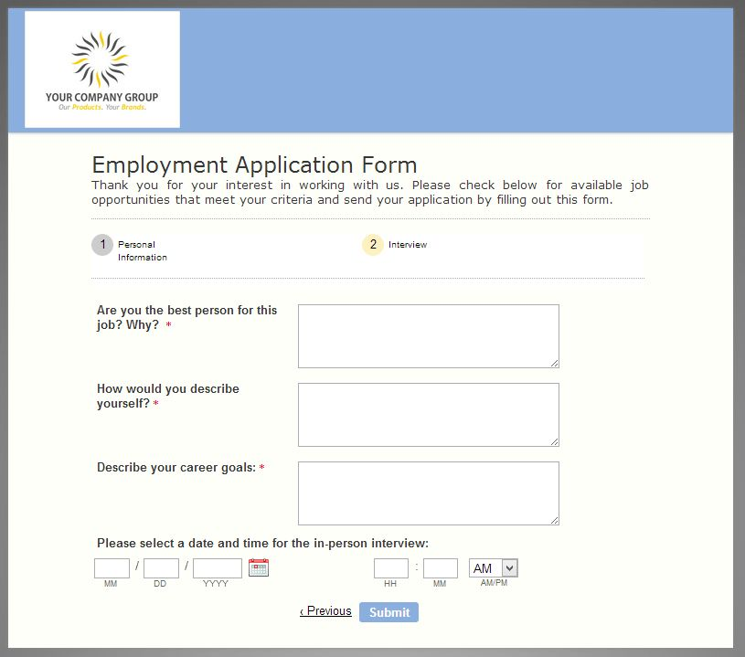 Tuesday Form Template: The Helpful Employment Application Form