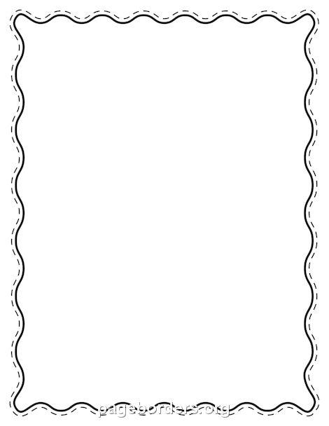 Printable black wavy border. Use the border in Microsoft Word or ...