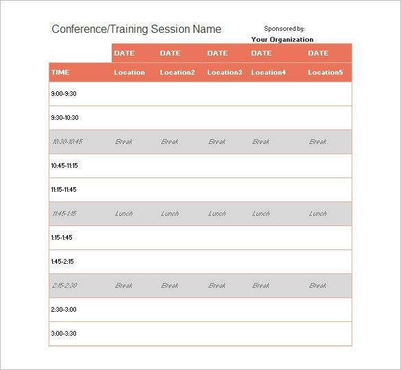 Event Schedule Template – 10+ Free Word, Excel, PDF Format ...