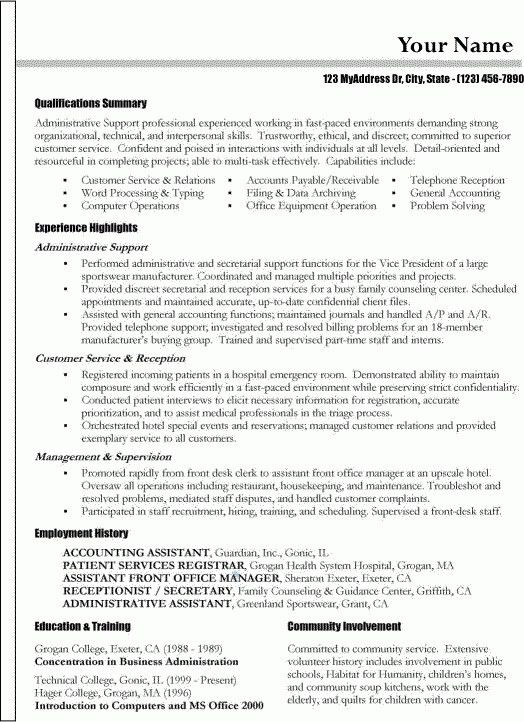 functional resume samples | moa format