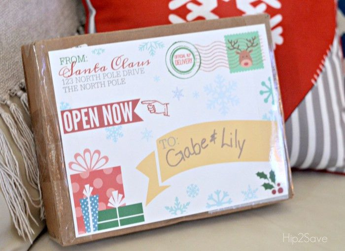 FREE Printable Shipping Label from Santa Claus – Hip2Save