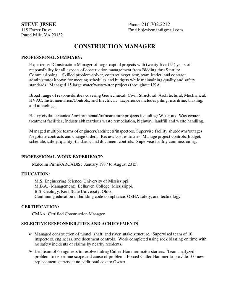 Steve Jeske - Resume + Project Summary combined