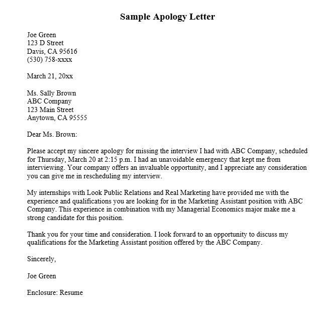 I'm Sorry Notes – 8 Free Sample Letters – Sorry Letters