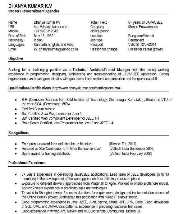 16 Free Sample Web Application Architect Resumes – Sample Resumes 2016