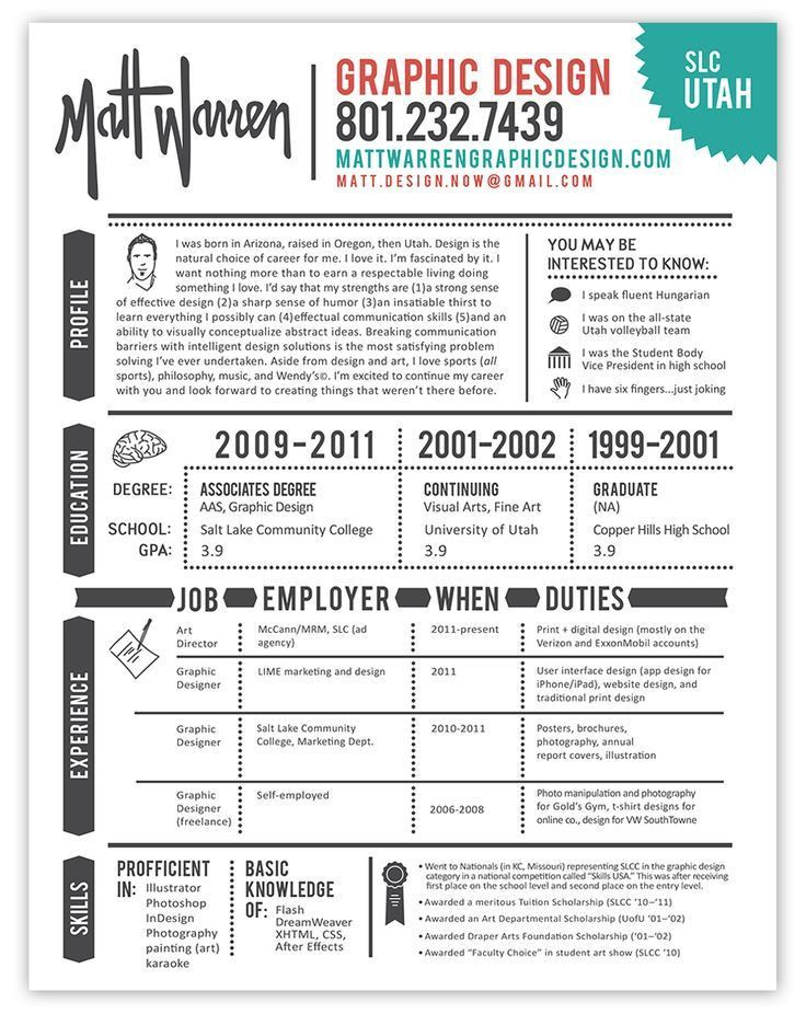 41 best resume design inspiration images on Pinterest | Resume ...