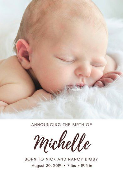 Birth Announcement Templates - Canva