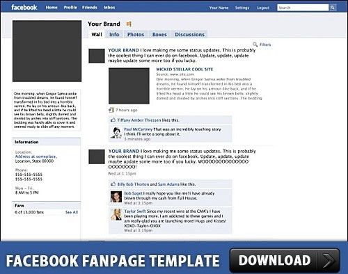 Facebook Timeline Template PSD Free psd in Photoshop psd ( .psd ...
