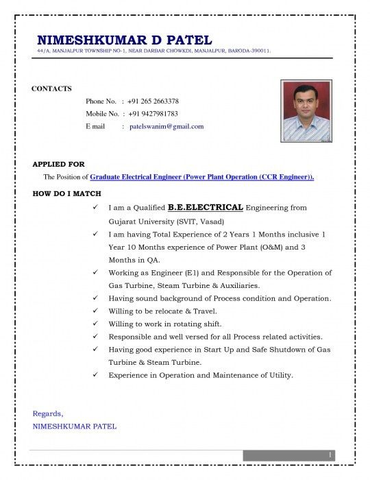 free download resume format for fresher example good resume ...