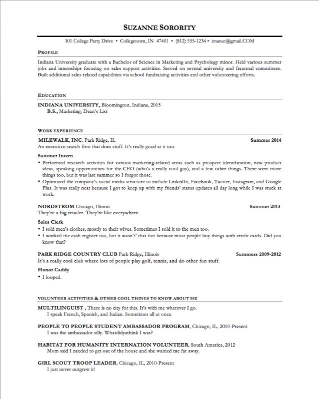 The Ultimate Resume Template for Any 22-Year-Old #ifiwere22 ...