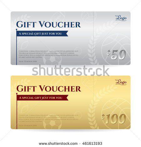 Elegant Gift Voucher Gift Card Certificate Stock Vector 475320238 ...