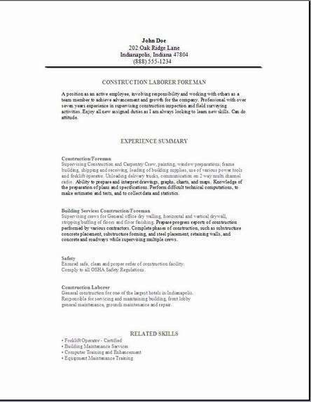 resume examples for laborer unforgettable general labor resume