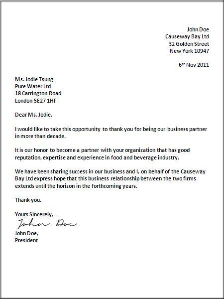 Formal Business Letter Format | Official Letter sample template ...
