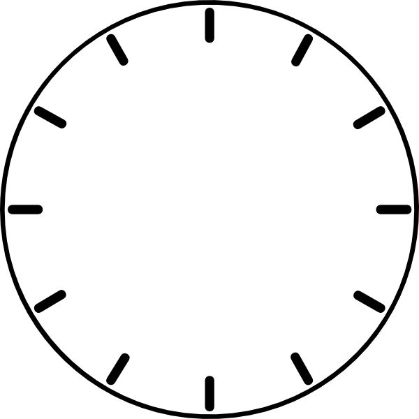 Blank Clock Faces Template | ZEGARY | Pinterest | Blank clock and ...
