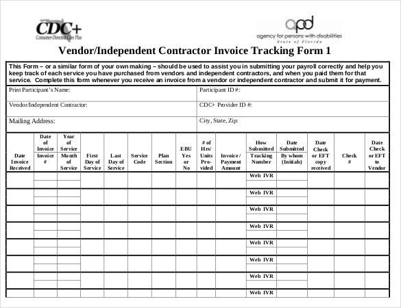 Invoice Tracking Template – 7+ Free Word, Excel, PDF Documents ...