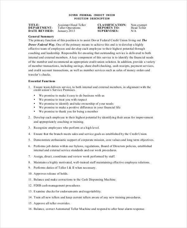 sample banking cover letter