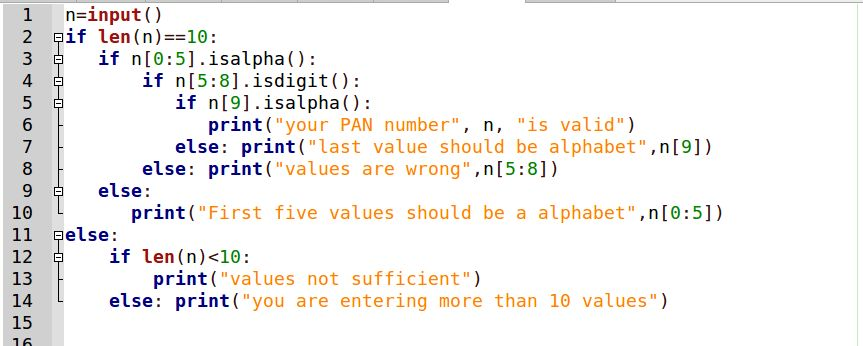 Validating format in Python (Example: check PAN number is valid ...
