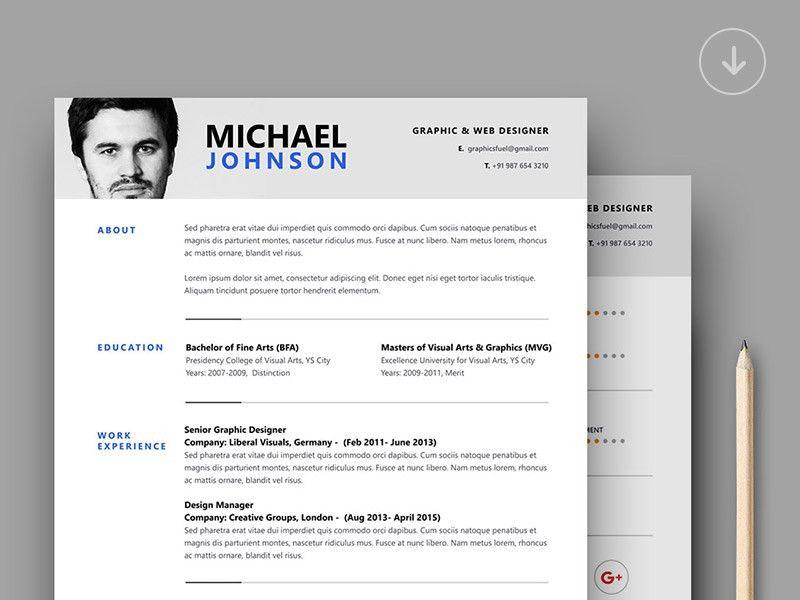 30+ Best Clean CV / Resume Templates | Designazure.com