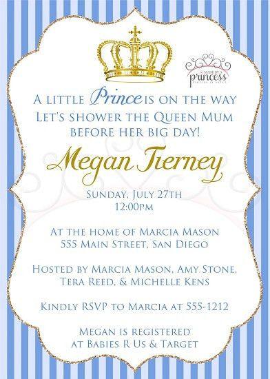 Little Prince Printable Baby Shower Invitation