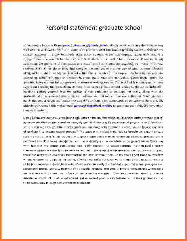 6+ personal statement examples graduate school - Sales Report Template