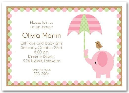 Baby shower invitations for boy & girls : baby shower invitations ...