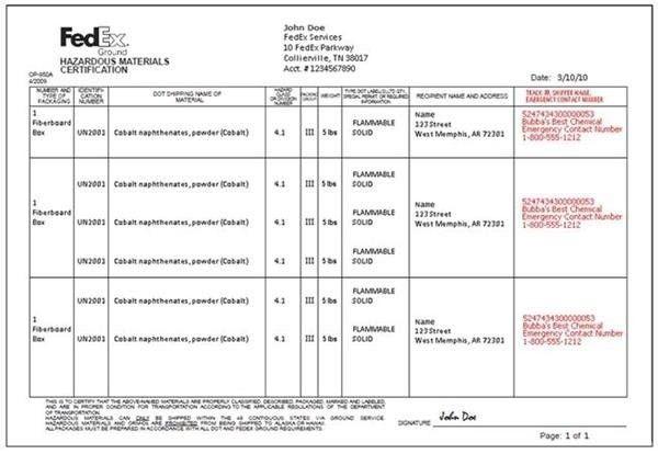 Fedex Commercial Invoice   Template Design