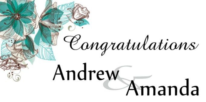 Wedding Congratulations Banner Template | Customize in our Online ...
