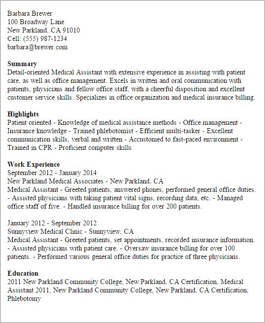 Professional Medical Assistant Templates to Showcase Your Talent ...