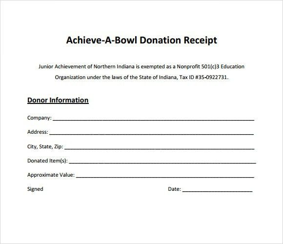 9+ Donation Receipt Templates - Free Samples, Examples, Format