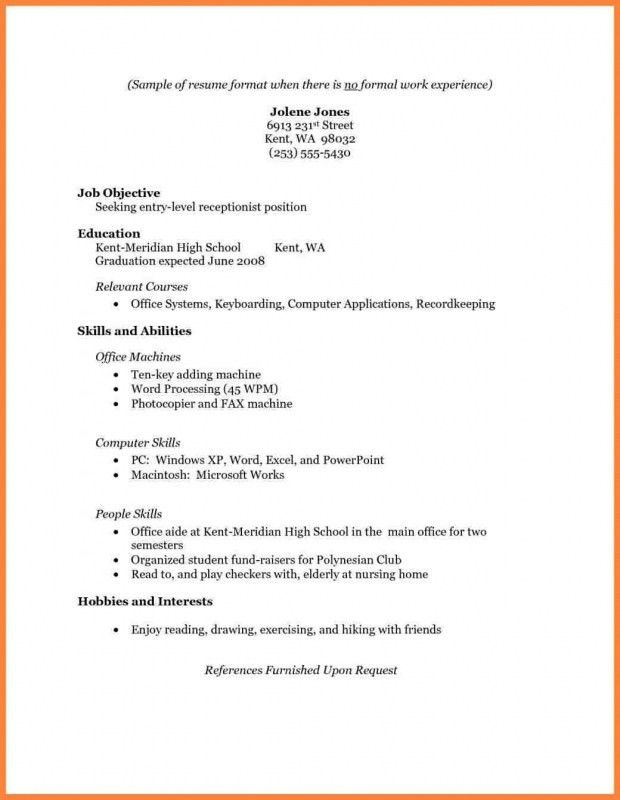 Bartending Resume Templates With No Experience - Ecordura.com