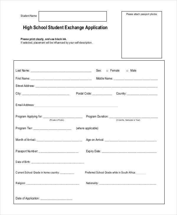 application forms examples