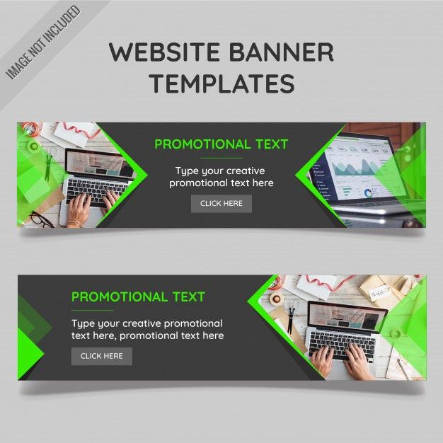 Website banner templates Vector | Free Download