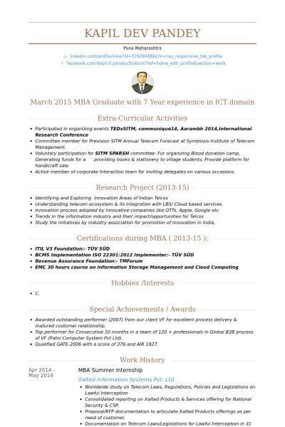 mba resume example mba resume template 11 free samples examples