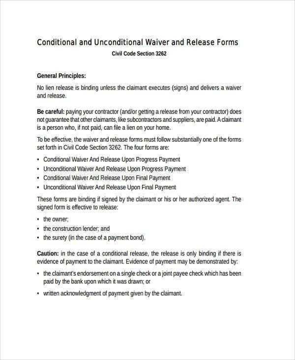 Print Release Form. Print Release Form –8+ Free Samples, Examples ...