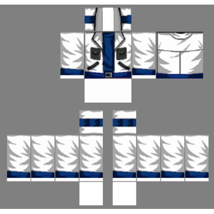 Roblox Blue And White Shirt Template - ROBLOX